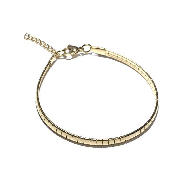 gull-stål-klassisk-enkel-armbånd
