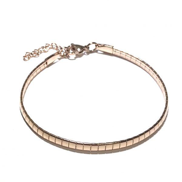 rosegull-stål-klassisk-enkel-armbånd