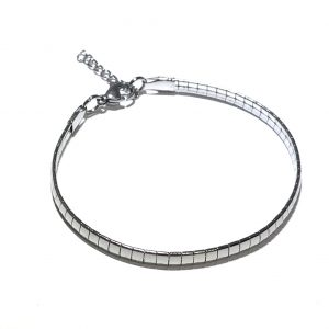sølv-stål-klassisk-enkel-armbånd