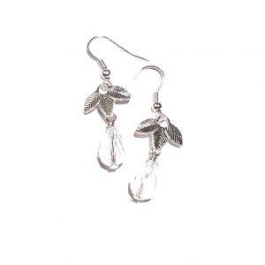 glass-dråpe-blad-løv-øreanheng-ørepynt-øredobber