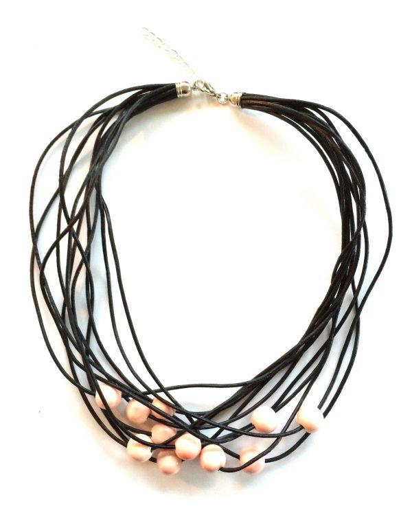 keramikk-lær-smykke-halskjede