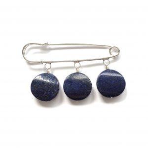 lapis lazuli-nål-brosje