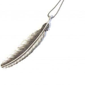 fjær-halskjede-smykke