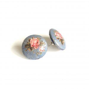 rose-håndlaget-decoupage-øredobber-ørepynt