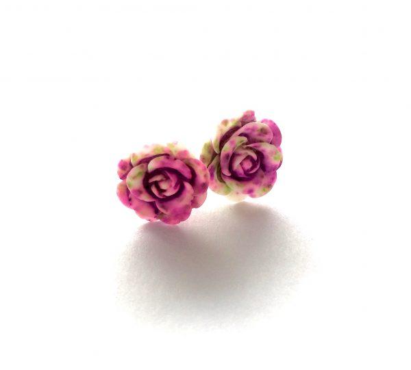 rosa-hvise-rose-øredobber-ørepynt