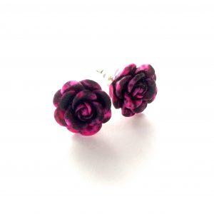 lilla-sorte-rose-øredobber-ørepynt