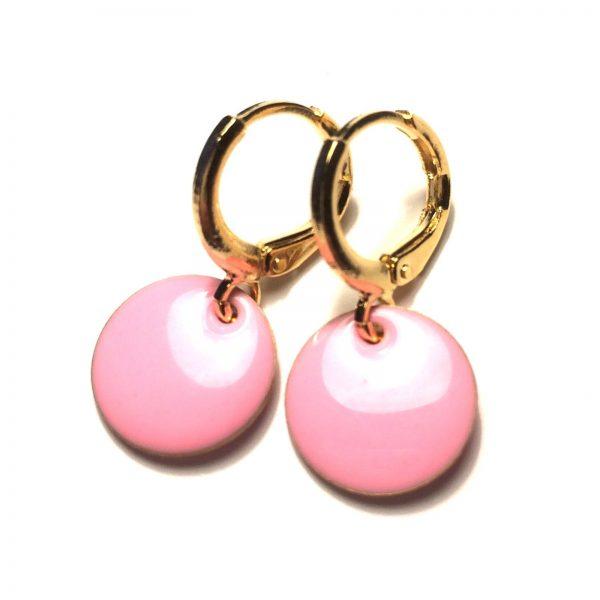 rosa-øredobber-øreanheng-ørepynt