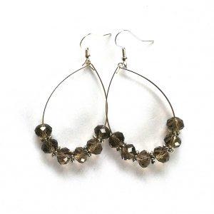 swarovski-krystall-brune-øreringer-ørepynt-øredobber-øreanheng