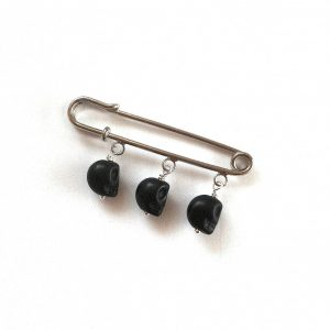 pyntenål-nål-brosje-hodeskalle