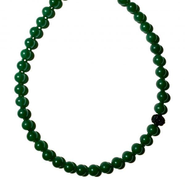 halskjede-smykke-grønn-håndlaget