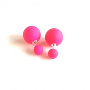 doble-øredobber-ørepynt-rosa