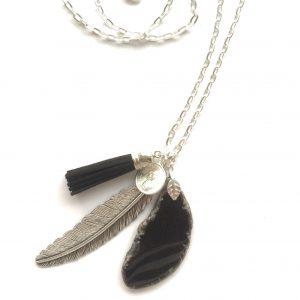 halskjede-smykke-agat-håndlaget