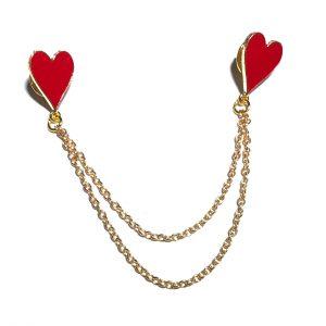 hjerte-nål-brosje