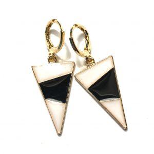 øreringer-øredobber-ørepynt-gull-trekant-grafisk
