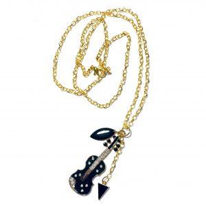 fiolin-smykke-halskjede-håndlaget