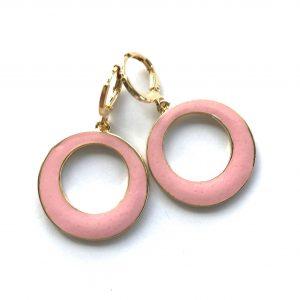 lys-rosa-ørepynt-øreringer-øreanheng-gull