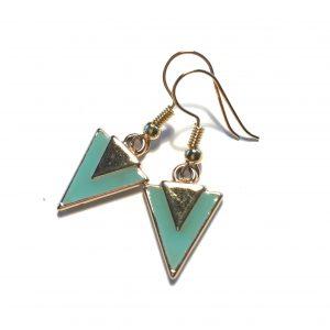 turkis-øreanheng-øredobber-ørepynt-trekant