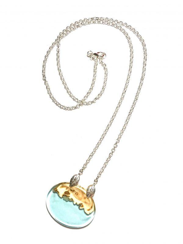 langt-blå-halskjede-smykke