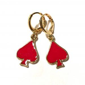 røde-øredobber-ørepynt-gull