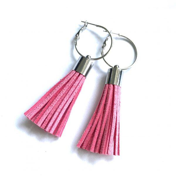 rosa-dusk-øreringer-øredobber-ørepynt