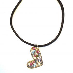 brun-lammeskinn-hjerte-smykke-halskjede