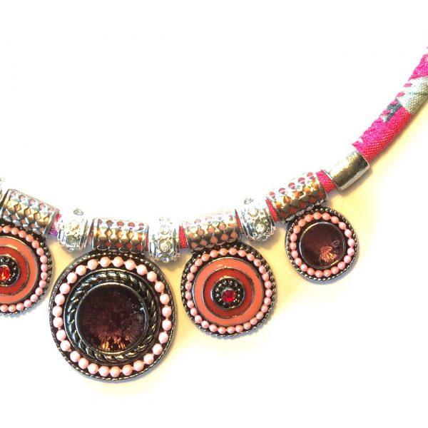 rosa-bohem-smykke-halskjede