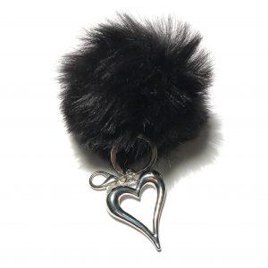 sort-pels-dusk-hjerte-nøkkelring