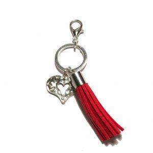 rød-dusk-hjerte-nøkkelring