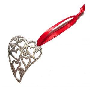 rød-sølv-hjerte-jule-tre-pynt