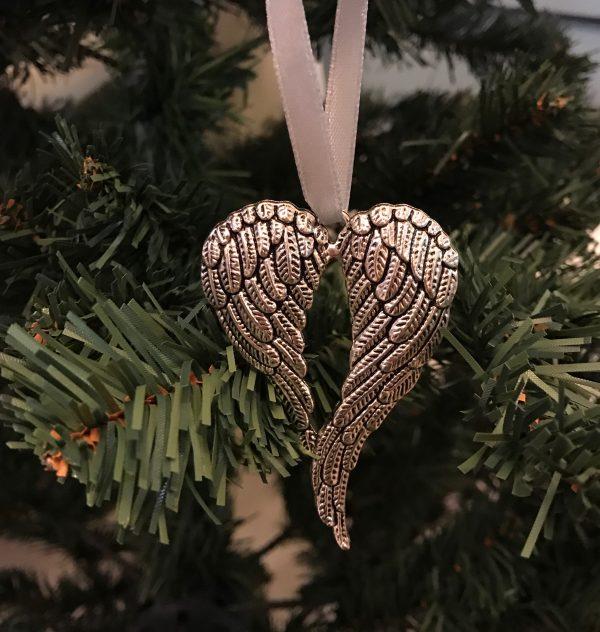 hjerte-vinge-sølv-juletrepynt