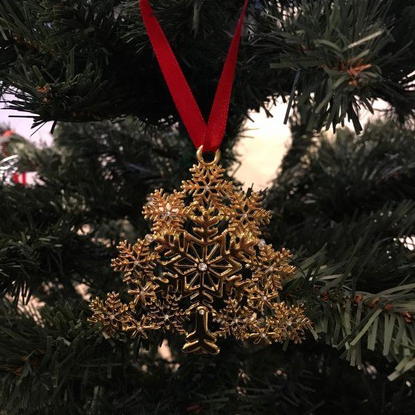 gull-juletrepynt