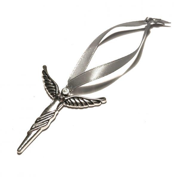 sølv-grå-jule-tre-pynt-engel