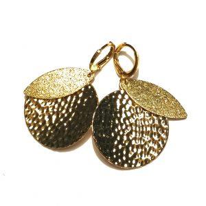gull-øredobber-øreanheng-ørepynt