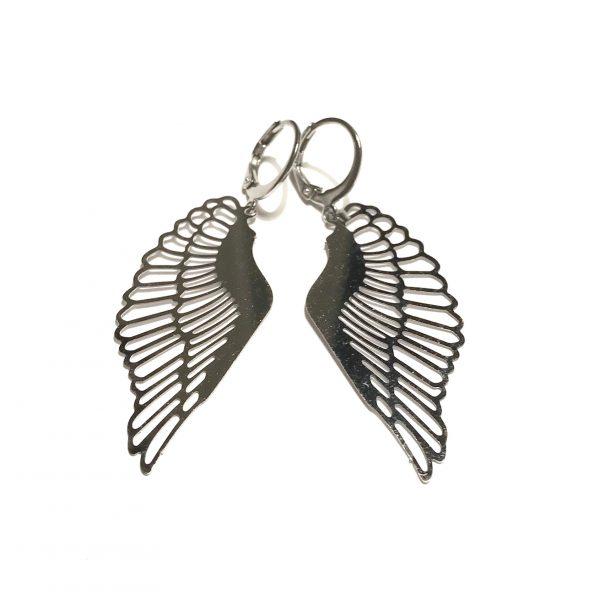 vinge-stål-ørepynt-øreanheng-øredobber