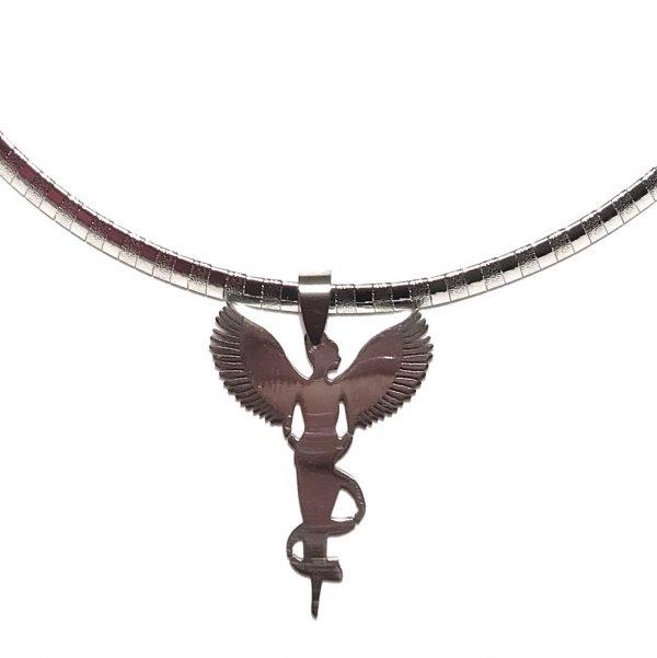 stål-engel-smykke-halskjede