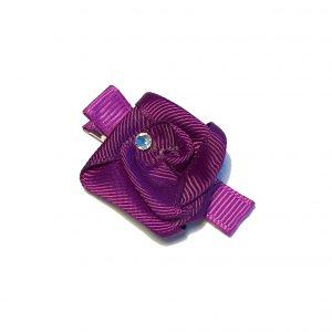 lilla-hårpynt-hårspenne-hårsløyfe-rose