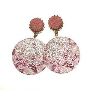 rosa-bohem-øredobber-ørepynt-øredobber