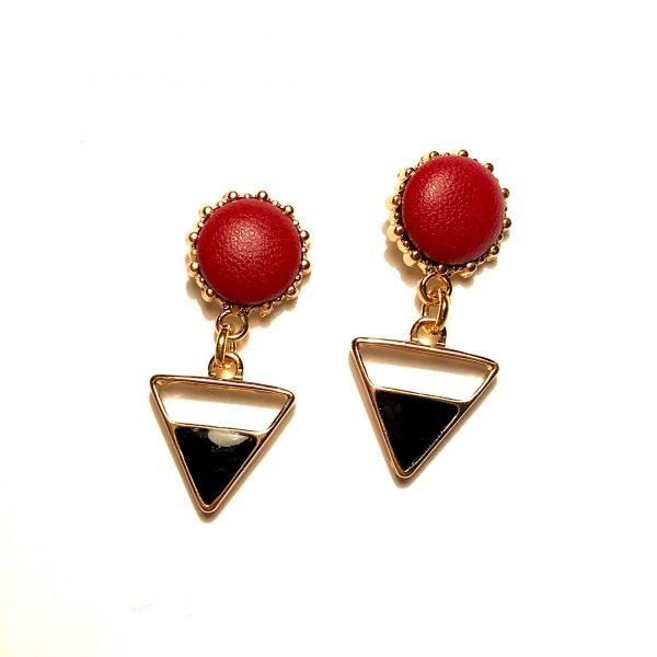 rød-sort-øredobber-ørepynt-øreanheng