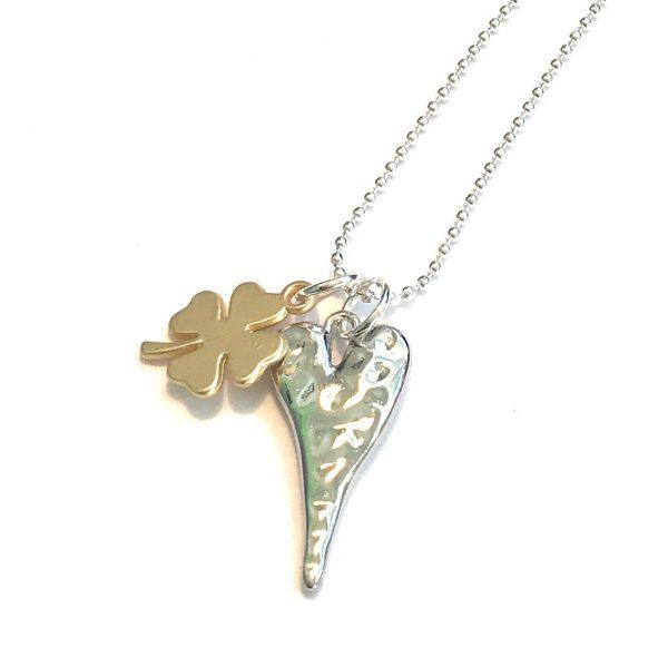 hjerte-firkløver-smykke-halskjede