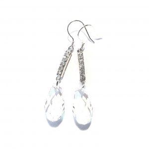swarovski-krystall-blank-sølv-ørepynt-øreanheng-øredobber
