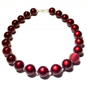 rød-smykke-halskjede-perlehalskjede-perlesmykke-julesmykke