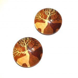 hjort-gevir-kjøleskapmagneter-brun