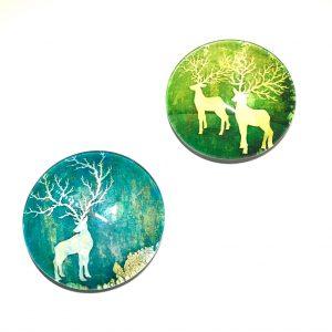 hjort-turkis-grønn-kjøleskapmagneter