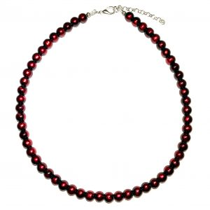 rød-smykke-halskjede-perlekjede-perlesmykke-julesmykke