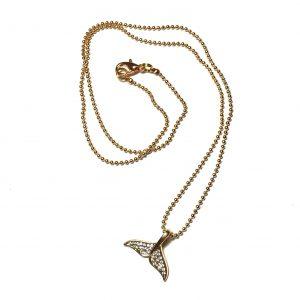 fiskehale-hval-rhinsten-smykke-kulelenke-halskjede