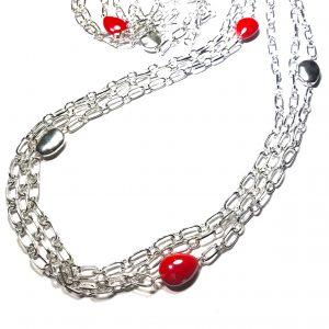 rød-keramikk-smykke-halskjede