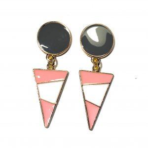 grå-rosa-øredobber-øreanheng-ørepynt