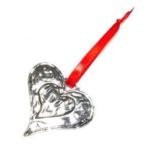 hjerte-rød-juletrepynt-julepynt