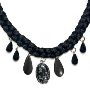 stein-obsidian-smykke-halskjede