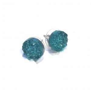 druzy-glitter-sjøblå-ørepynt-øredobber
